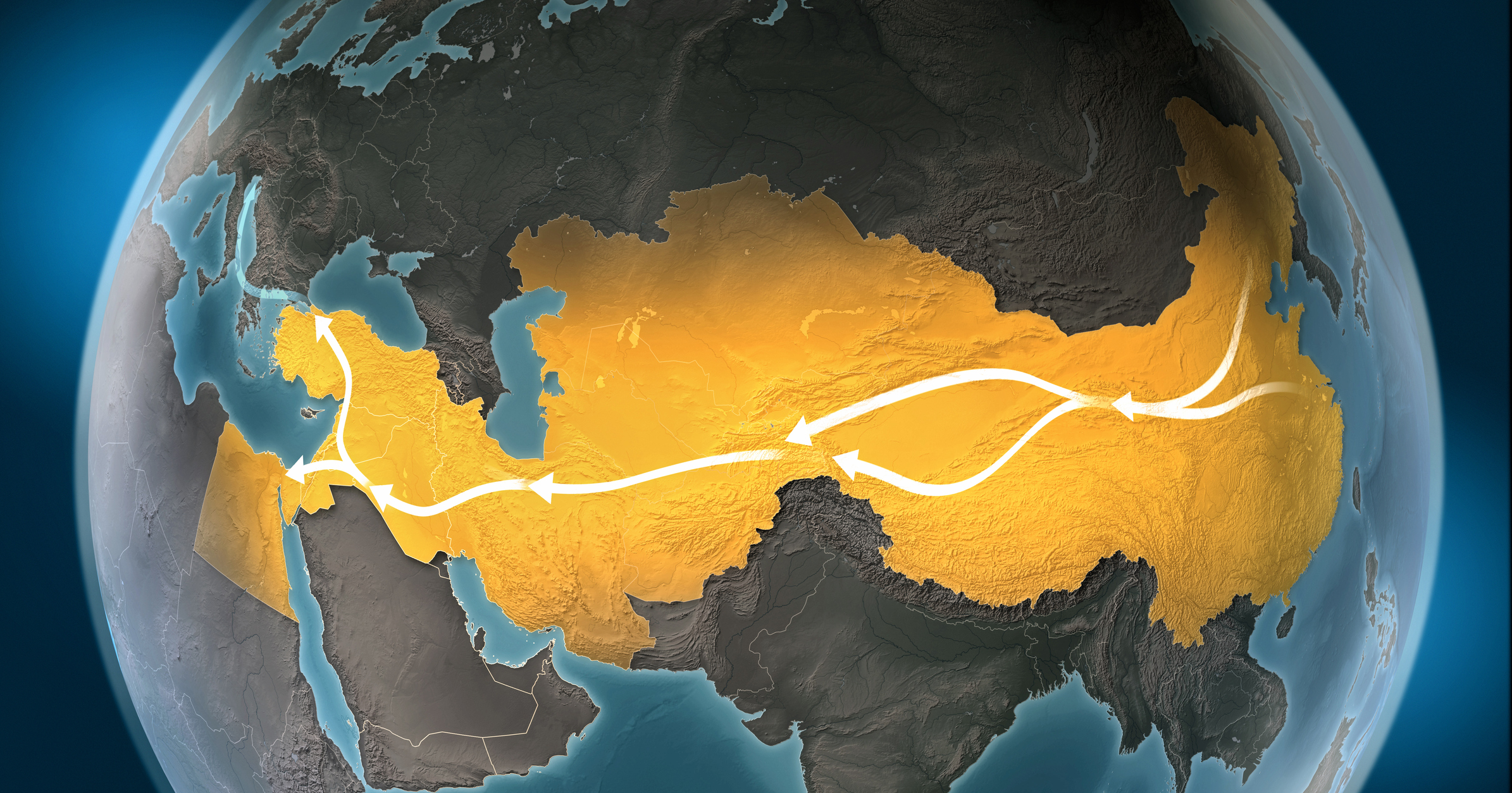 Silk Road Route Map